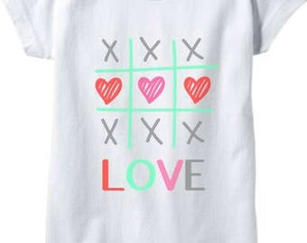 Girls Valentines Day shirt XoXo