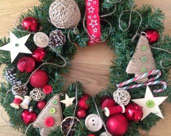 Christmas wreath, Christmas, Advent Wreath, Christmas wreath