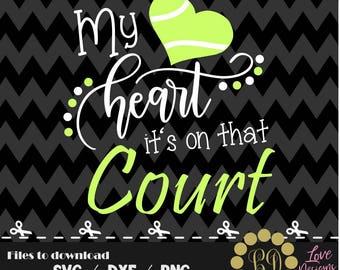 My heart it's that court Tennis svg,png,dxf,cricut,silhouette,college,jersey,shirt,proud,bama,ncaa svg,rattlers,cut,football,hornets,ncaa