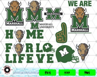 Marshall Thundering Herd svg,png,dxf/Marshall Thundering Herd clipart for Print/Design/Cricut/Silhouette...etc