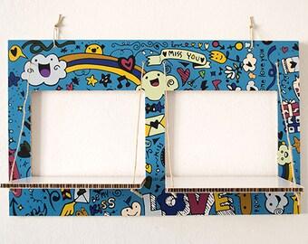 Decorated cardboard shelves-CARTONSOLE-model 024 LOVE