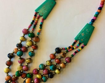 Colorful Bone Necklace