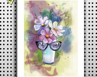 Printable poster Vector flowers download vector Instant download flowers art wall decor poster ready print wall art Digital image pdf jpg
