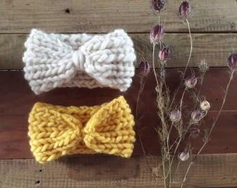 Natural 100% Merino Wool headband