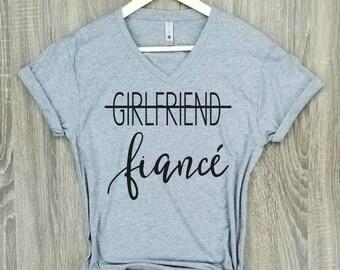 fiance shirt, gray, engaged AF, wifey shirt, engagement shirt, engaged top, bridal gift, bride gift, wedding gift, bridal shower gift