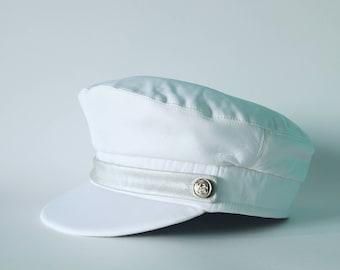 Women peaked cap, Women chic hat, Women silk cap, Sailor hat, Women velveteen hat,  Women captains cap, Fisherman cap, Military hat