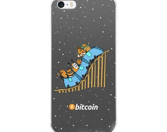 Bitcoin Rollercoaster Case iPhone 5/5s/Se, 6/6s, 6/6s Plus, 7/7 Plus 8/8 Plus and iPhone X