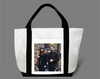Dakota Johnson Jamie Dornan Canvas Tote Bag #0007