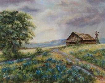Barn in the Rain