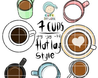 Cups - Flat lay style