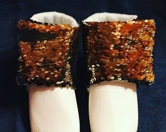 Jareth, the Goblin King inspired, vegan leather baby booties
