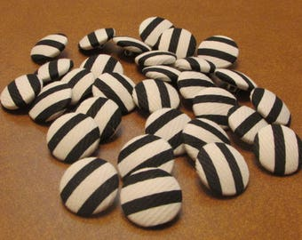 Black and White Buttons-Set of 30