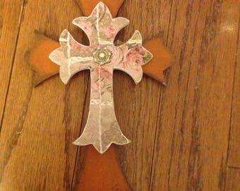 8in shabby  wooden crosses