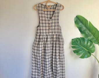 Vintage Woolrich Plaid Flannel Field Dress Size Medium