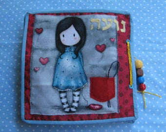 CUSTOM Quiet Book,Girls  Busy Book, Felt Activity Book,  Gift for Kid 3-6 years
