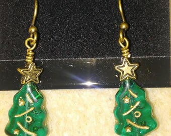 Antique brass holiday trees!
