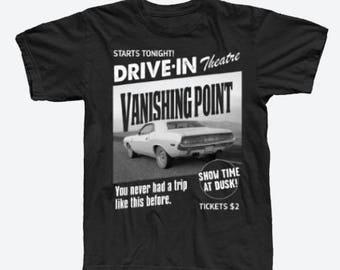 Vanishing Point Drive-In Theatre T-Shirt Kowalski Dodge Challenger Mopar
