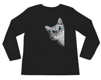 Cat Shirt Long Sleeve - Funny Cat Shirt - Cat Lover Gift – Cat Tshirt – Funny Shirt - Funny Tshirt - Cat Tee - Womens T- Shirt - Cat
