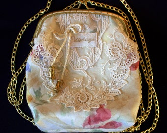 Evening Bag Made With Vintage Lace