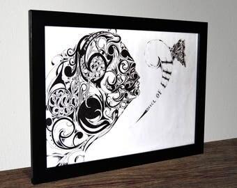 Wall Art Illustration Print - A3