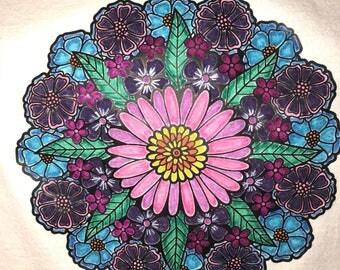 Flower circle tee