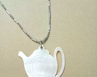 Seashell pendant teapot pendant Necklace Shell pendant Seashell necklace necklace