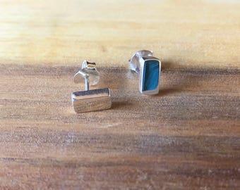 Sterling Silver Bar Earrings