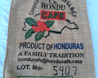 Burlap coffee bean bag for vintage decor