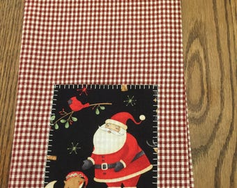 Appliqued Santa Kitchen Towel