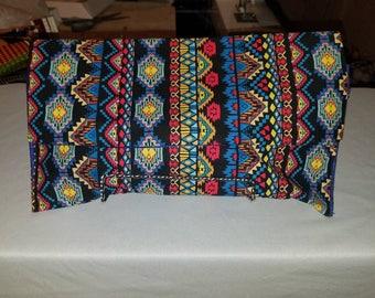 Aztec print clutch