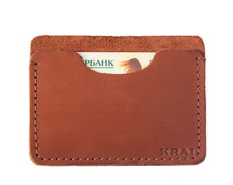Men's leather cardholder 0006H