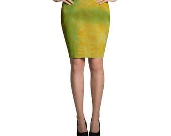 Adire Pattern Pencil Skirt II