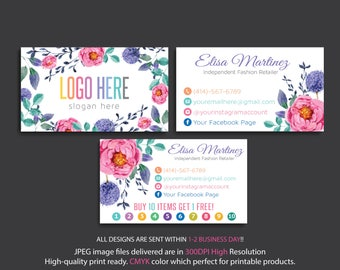 Custom Business Cards, Watercolor Business Cards, Personalized Business Card, Fashion Business Cards, Printable Card, Digital File 001