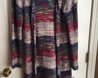 Long Striped Women's Sweater