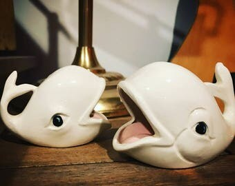 Vintage Whale Ash Trays