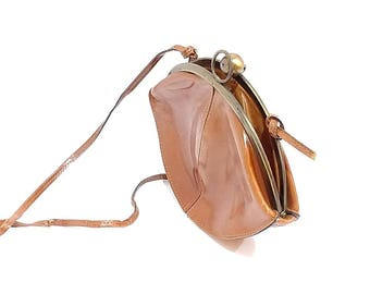 Italian / Genuine Leather / Purse / Brown / Hobo