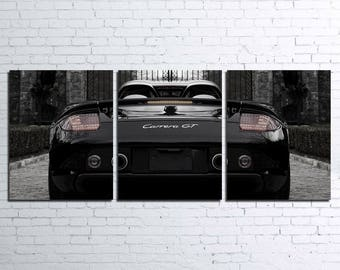 Porsche Carrera GT 3pc Wall Canvas