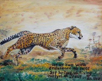 Inspirational Canvas Print of Cheetah