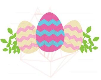 Easter Egg Crown SVG DXF