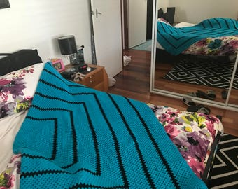 Handmade Crochet Blanket - Large - King Size