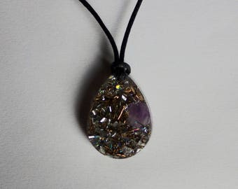 Orgone Energy Pendant - Clear Quartz and Amethyst