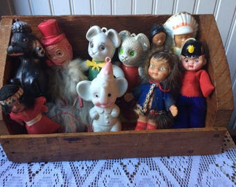 Celluloid toy rubber toy vintage toy lot