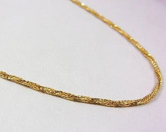 """Solid 18K Yellow Gold 28"""" 1.4mm Twisted Rope Link Chain Necklace, 7.0 grams"""