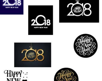 New Years svg, New Years svg bundle, 2018 svg, Happy New Year svg, New years svg for Silhouette, New Years files for cricut, clipart