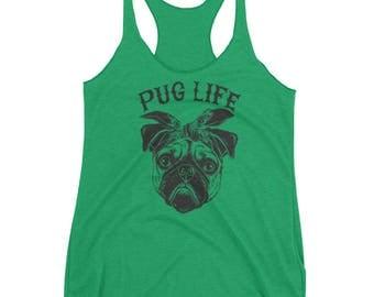 Pug Life Women's Racerback Tank