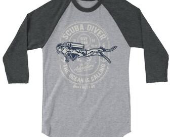 Dive Team 3/4 sleeve raglan shirt