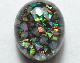 Synthetic opal triplet cabochon (Y0034)