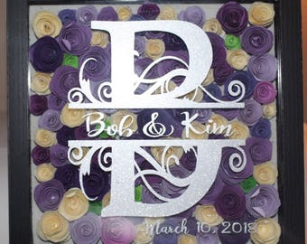 All about purple 9x9 Black shadow box