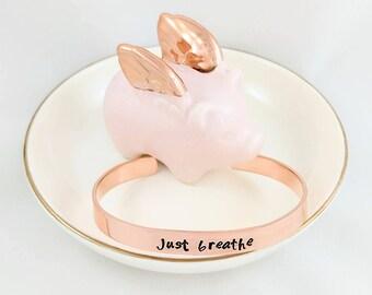 JUST BREATHE - Copper Cuff