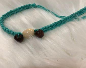 Turquoise Hemp Necklace